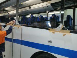 Bus restoration - industrial coatings